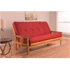 Monterey Frame/Butternut Finish/Suede Red Mattress