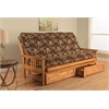 Monterey Frame/Butternut Finish/Fairbanks Evergreen Mattress/Storage Drawers