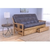 Monterey Frame/Butternut Finish/Palance Steel Mattress/Storage Drawers
