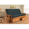 Monterey Frame/Butternut Finish/Suede Navy Mattress/Storage Drawers