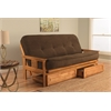 Monterey Frame/Butternut Finish/Tantra Espresso Mattress/Storage Drawers
