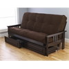 Monterey Frame/Espresso Finish/Suede Chocolate Mattress/Storage Drawers