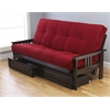 Monterey Frame/Espresso Finish/Suede Red Mattress/Storage Drawers