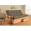 Monterey Frame/Natural Finish/Suede Gray Mattress/Storage Drawers