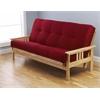Monterey Frame/Natural Finish/Suede Red Mattress
