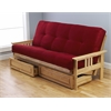 Monterey Frame/Natural Finish/Suede Red Mattress/Storage Drawers