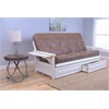 Phoenix Frame/Antique White Finish/Palance Silt Mattress/Storage Drawers