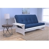 Phoenix Frame/Antique White Finish/Suede Navy Mattress