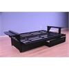 Phoenix Frame-Black Finish-Storage Drawers