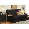 Phoenix Frame-Black Finish-Suede Black Mattress-Storage Drawers