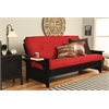 Phoenix Frame-Black Finish-Suede Red Mattress