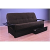 Phoenix Frame/Black Finish/Tantra Espresso Mattress/Storage Drawers