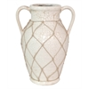 Ceramic Vase With Twine Detail - Ivory