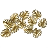 Gold Metal Tropical Leaves Wall Decor
