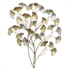 Silver And Gold Metal Tropical Leaves Wall Decor