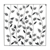 Black Metal Tropical Leaves Wall Decor