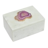 Marble Box With Agate Detail