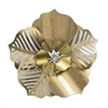 Floral Metal Wall Dcor In Gold Tones