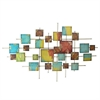 Abstract Squares Metal Wall Dcor Multicolored