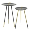 Metal Accent Table S/2 - Black