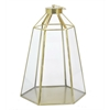 Metal/Glass Candle Lantern - Gold