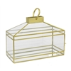 Metal/Glass Terrarium - Gold