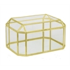 Metal/Glass Box - Gold