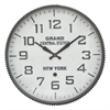 Metal Wall Clock With Grand Central Station Face