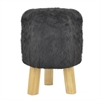 Wood Stool - Black