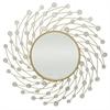 Starburst Jeweled Mirror - Gold Metal