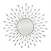 Starburst Jeweled Mirror - Silver
