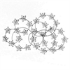 Jeweled Metal Wall Decor - Black