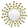 Gold Metal Jeweled Decorative Mirror