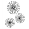 Jewel Starburst Wall Art  S/3-- Black