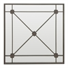 Metal Wall Mirror With Cross Bar Detailing