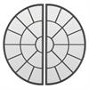 Semi Circle Decorative Wall Mirror S/2