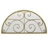 Semi Circle Decorative Wall Mirror With Decorative Scroll Detail