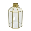 Metal & Glass Terrarium - Gold