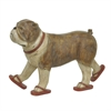 Three Hand Dog Figurine In Flip Flops