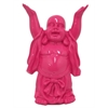 Resin Buddha Figurine - Hot Pink