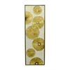 Framed Embellished Canvas Oil Painting - Gold Abstract Circles