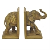 Wood-Look Elephant Book Ends