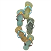 Sandals Metal Wall Decoration Multicolor