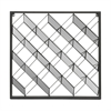 Metal Wall Sculpture Geometric Design With Mirrored Detail