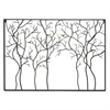 Black Metal Wall Sculpture Of Trees With Birds