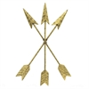 Metal Wall Dcor - Three Gold Tone Bound Arrows
