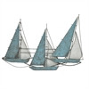 Metal Wall Dcor - Blue Sail Boats