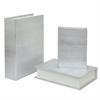 Wood Book Box Set Of Three - Silver Snakeskin Finish