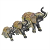 Elephant Table Top Dcor Set Of 3 Black And Gold