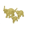 Elephant Table Top Dcor Set Of 3 In Gold